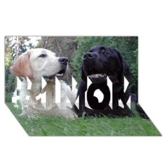 2 Labs #1 MOM 3D Greeting Cards (8x4)