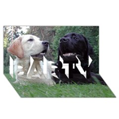 2 Labs PARTY 3D Greeting Card (8x4)