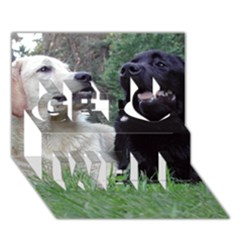 2 Labs Get Well 3D Greeting Card (7x5)
