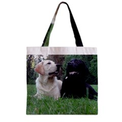 2 Labs Zipper Grocery Tote Bags