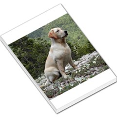 Yellow Lab Sitting Large Memo Pads