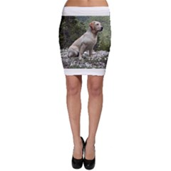 Yellow Lab Sitting Bodycon Skirts