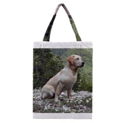 Yellow Lab Sitting Classic Tote Bags