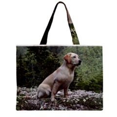 Yellow Lab Sitting Zipper Tiny Tote Bags