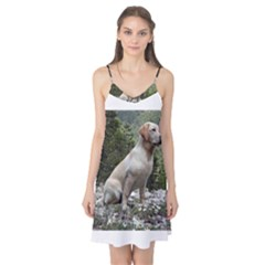Yellow Lab Sitting Camis Nightgown
