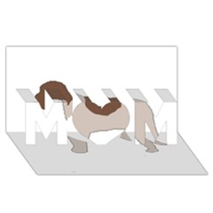 Lagotto Romagnolo Silo Color MOM 3D Greeting Card (8x4)