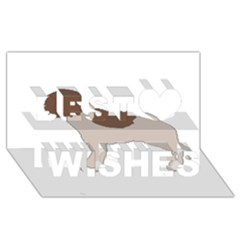 Lagotto Romagnolo Silo Color Best Wish 3D Greeting Card (8x4)