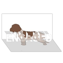 Lagotto Romagnolo Silo Color ENGAGED 3D Greeting Card (8x4)