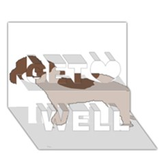 Lagotto Romagnolo Silo Color Get Well 3D Greeting Card (7x5)