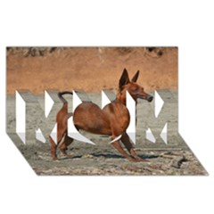 Min Pin Full MOM 3D Greeting Card (8x4)