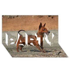 Min Pin Full PARTY 3D Greeting Card (8x4)