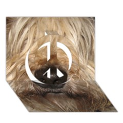 Wheaten Peace Sign 3D Greeting Card (7x5)