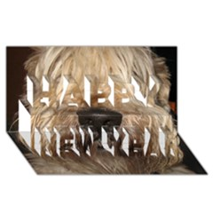 Wheaten Happy New Year 3D Greeting Card (8x4)