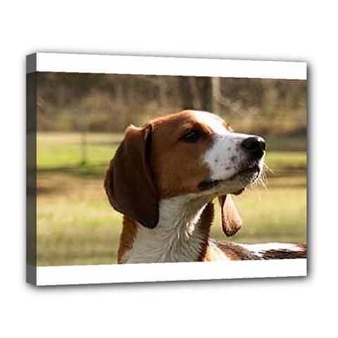 Treeing Walker Coonhound Canvas 14  x 11