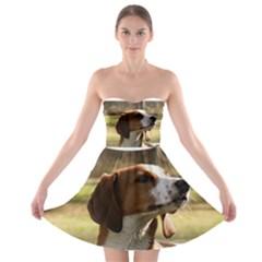Treeing Walker Coonhound Strapless Bra Top Dress