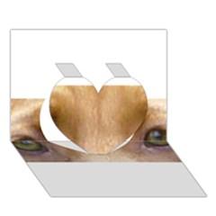 Vizsla Eyes Heart 3D Greeting Card (7x5)