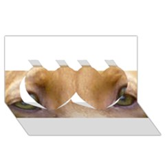 Vizsla Eyes Twin Hearts 3D Greeting Card (8x4)