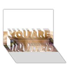 Vizsla Eyes YOU ARE INVITED 3D Greeting Card (7x5)