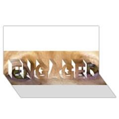 Vizsla Eyes ENGAGED 3D Greeting Card (8x4)