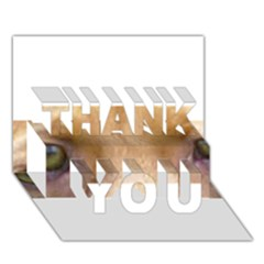 Vizsla Eyes THANK YOU 3D Greeting Card (7x5)