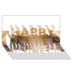 Vizsla Eyes Happy New Year 3D Greeting Card (8x4)