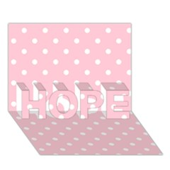 Pink Polka Dots HOPE 3D Greeting Card (7x5)