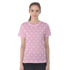 Pink Polka Dots Women s Cotton Tees
