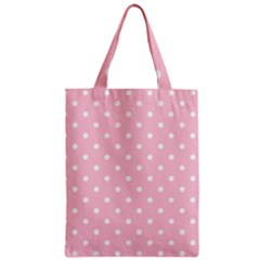 Pink Polka Dots Classic Tote Bags