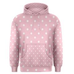 Pink Polka Dots Men s Pullover Hoodies