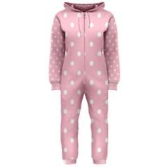 Pink Polka Dots Hooded Jumpsuit (Ladies)