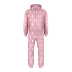 Pink Polka Dots Hooded Jumpsuit (Kids)