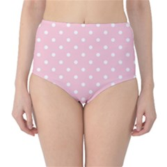 Pink Polka Dots High Waist Bikini Bottoms