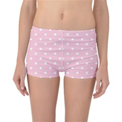 Pink Polka Dots Reversible Boyleg Bikini Bottoms
