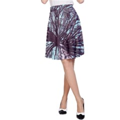 Under Tree Paint A-Line Skirts