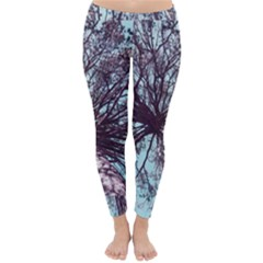 Under Tree Paint Winter Leggings