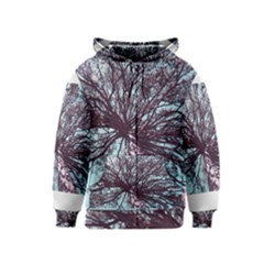 Under Tree Paint Kids Zipper Hoodies