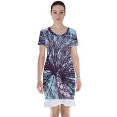 Under Tree Paint Short Sleeve Nightdresses