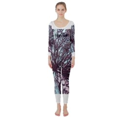 Under Tree Paint Long Sleeve Catsuit