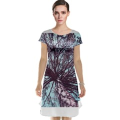 Under Tree Paint Cap Sleeve Nightdresses