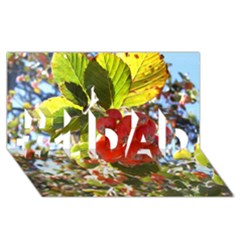 Rowan #1 DAD 3D Greeting Card (8x4)