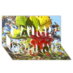 Rowan Laugh Live Love 3d Greeting Card (8x4)