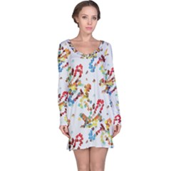 Colorful paint strokes nightdress