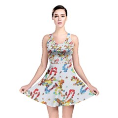 Colorful Paint Strokes Reversible Skater Dress