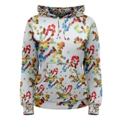 Colorful Paint Strokes Pullover Hoodie