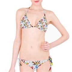 Colorful paint strokes Bikini set