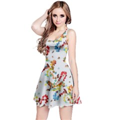 Colorful paint strokes Sleeveless Dress