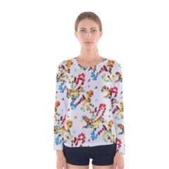Colorful paint strokes Women Long Sleeve T-shirt