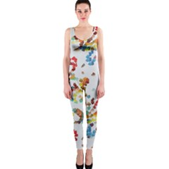 Colorful paint strokes OnePiece Catsuit