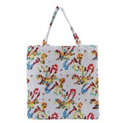 Colorful Paint Strokes Grocery Tote Bag