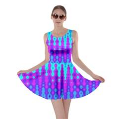 Melting Blues And Pinks Skater Dresses